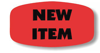 New Item Merchandise Labels 1000 Per Roll Fl Red Black Sticker