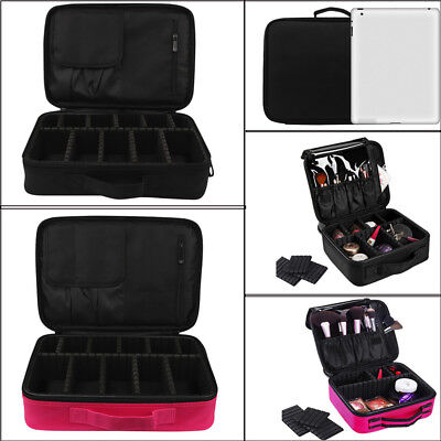 Professional Empty Makeup Organizer Cosmetic Bag Large Capacity Make Up Case Bag