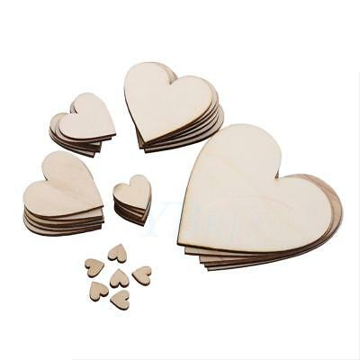 Wholesale Decorative Unfinished Wooden Heart Shape Embellishment 3mm Thickness