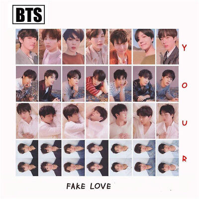 7PCS BTS FAKE LOVE YOURSELF Lomo Photo Cards Album Rounded Autograph Photocard