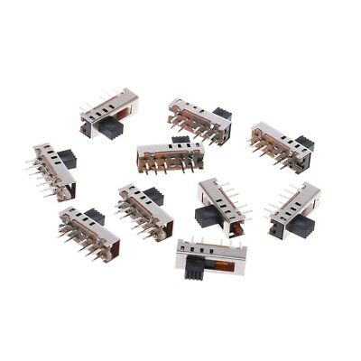 10Pcs SS24E01-G5 Slide Switches Vertical 0.5A 10 Pin 4 Toggle Position Switch