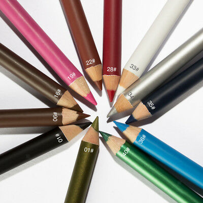 12 Colors Cosmetic Eye Lip Liner Eyeliner Lipliner Pencil Pen Makeup Set