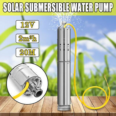 12V 2m3/h Brushless Stainless Screw Solar Power Submersible Deep Well Water Pump