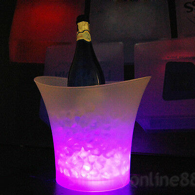 RGB LED ICE BUCKET Colour Change Champagne Wine Bar Drinks Cooler PUB Party UK