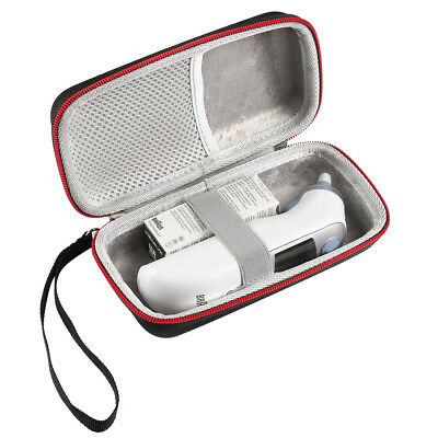 UK Thermometer EVA Protective Storage Hard Case For Braun ThermoScan 7 IRT6520