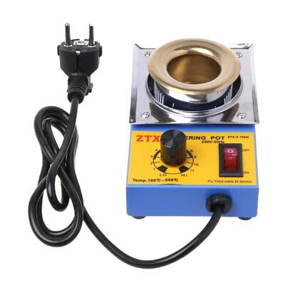 EU 220V Tin Furnace Adjustable Melting Temperature Solder Pot For Iron Solde