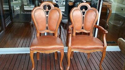 Antique Dining Chairs selling separately.14 in total.10 without armrest 4 with.