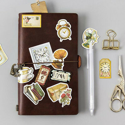 45Pcs Vintage Gold Silver Stickers Scrapbooking Hollow Label Trave Paper Crafts