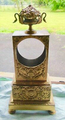 Very Large Pendulum Clock Time Empire Bronze Golden