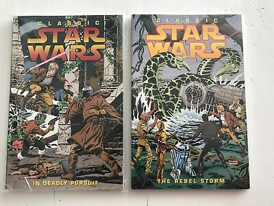 Star Wars Classic Dark Horse trade pocket In Deadly Pursuit & The Rebel Storm +