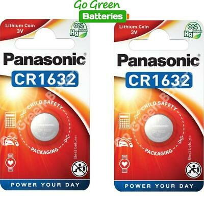 2 x Panasonic CR1632 3V Lithium Coin Cell Battery 1632 DL1632 BR1632 EXP 2028