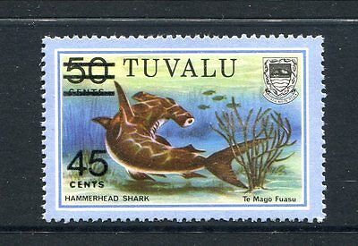 Tuvalu 1981 Surch 45c on 50c Fish MNH