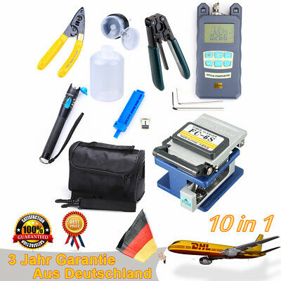 FTTH Splicing Splice Glasfaser Stripping Tool Kit Set mit Faser Cleaver FC-6S DE