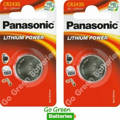 2 x Panasonic CR2430 3V Lithium Coin Cell Battery 2430, DL2430, 2028 EXP