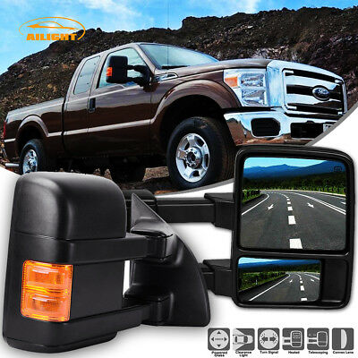 99-07 Ford F250-F550 Super Duty Towing Upgrade Mirrors Power Heated Turn Signal