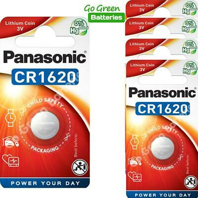 5 x Pansonic CR1620 3V Lithium Coin Cell Battery 1620 DL1620 KCR1620, 2028 EXP
