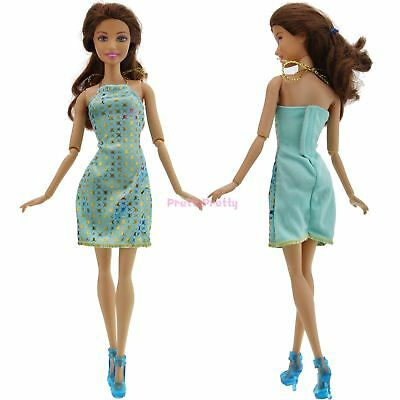 Lady Party Evening Star Dress Clothes Outfit Shoes Accessories For Barbie Doll H