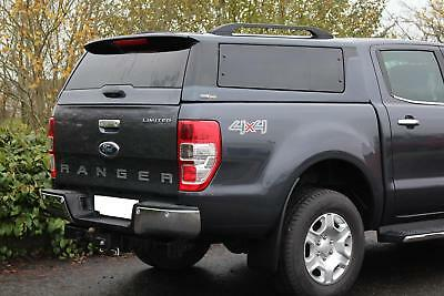 Ford Ranger T6 D-Cab 2012 On Platinum Hardtop Canopy Cover - Shadow Black