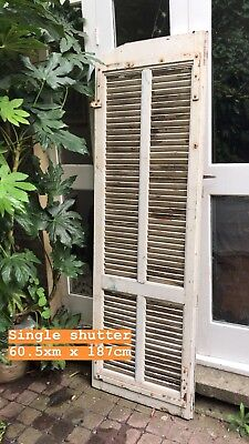 Rustic Distressed Solid Wood French Shutters