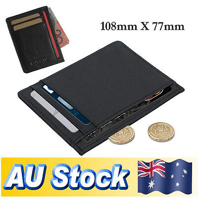 Men's Leather Wallet Opal Credit ID Card Holder 6 Slots Slim Money Wallet AU