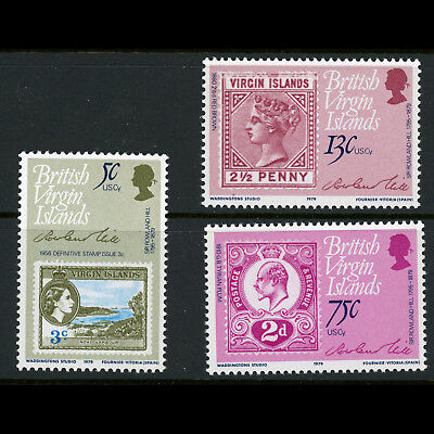 BRITISH VIRGIN IS 1979 Rowland Hill. SG 413-415. Mint Never Hinged. (BH569)