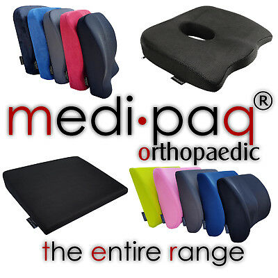 Entire Medipaq® Cushion Range - Car, Office, Seat, Lumbar, Travel, Neck Supports