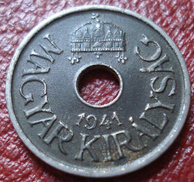 1941 Hungary 20 Filler In Vf Condition