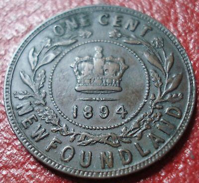 1894 Newfoundland Large Cent In Fine Condition