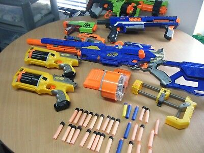 Bundle Of 8 Nerf Guns Including Zombie Strike Doominator Long Strike And More