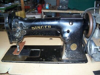 SINGER 40W40 USED Walking Foot Industrial Sewing Machine Table Magnificent Singer Walking Foot Industrial Sewing Machine