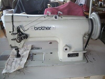 Brother LT2 B838 walking foot double needle industrial sewing machine reverse