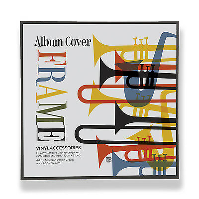 SET OF 6 12.5-Inch by 12.5-Inch Record Album Display Frames in Black ...