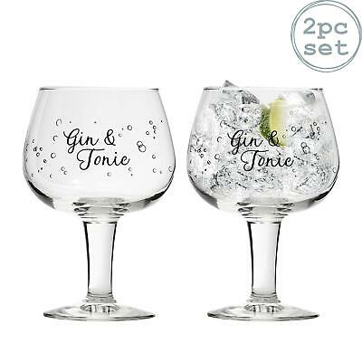 Gusto Decorated Spanish Balloon Copa Gin Glasses x2 - 660ml - G&T Gin and Tonic