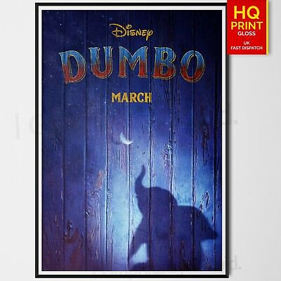 Dumbo Tim Burton Movie Poster 2019   A4 A3 A2 A1   Wall Decal