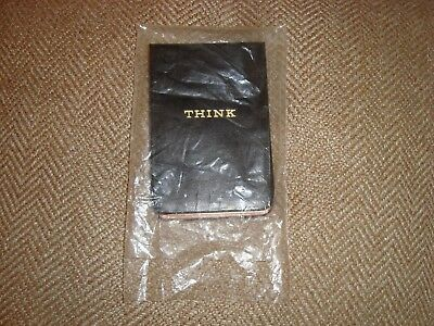Ibm Notepad Think Paper Nos Black 1960's Employee New