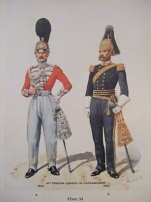 Military Print- Officers 6Th Dragoon Guards Or Carabiniers 1828/53 By R Simkin