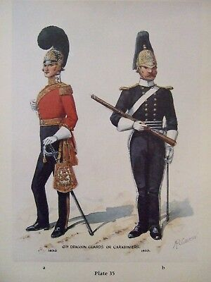 Military Print- 6Th Dragoon Guards Or Carabiniers 1833/53 By R Simkin