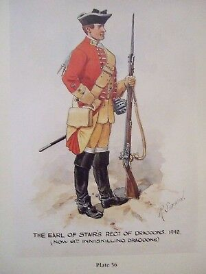 Military Print- Pte The Earl Of Stair's Regt Of Dragoons 1742 Richard Simkin