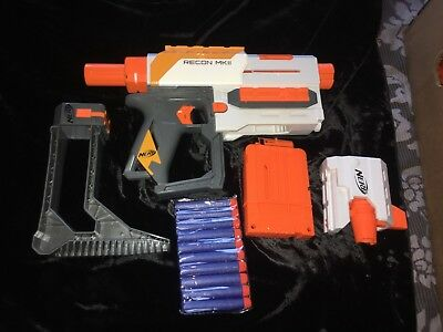 Nerf N-Strike Elite Modulus Recon MKII with Stock Barrel & 10 new Bullets