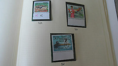 Jamaica 1972 Sg 359-361 10Th Anniv Of Independence  Mnh