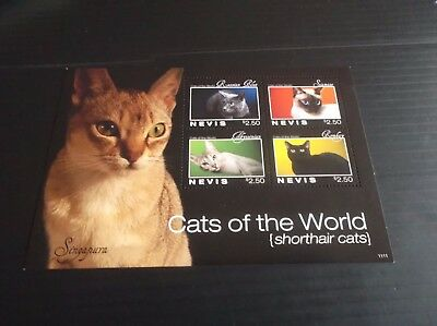 Nevis 2011 Sg Ms2245 Cats Of The World  Mnh