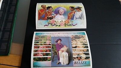 Belize 1985 Sg Ms831 Life And Times Of Queen Mother Mnh