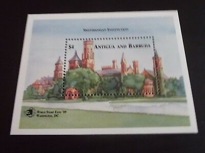 Antigua 1989 Ms  World Stamp Expo Stamp Exn Mnh