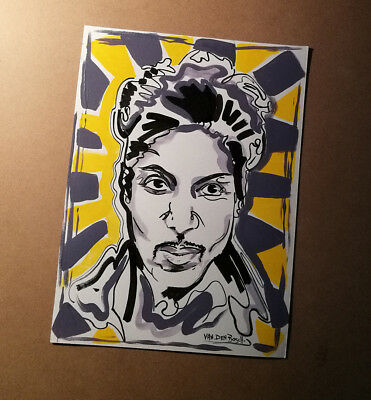 PRINCE , SONG , DRAWING , ORIGINAL ,  ART,  signed
