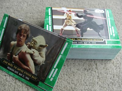 Topps Star Wars 40th anniversary Green parallel card lot (39 different)