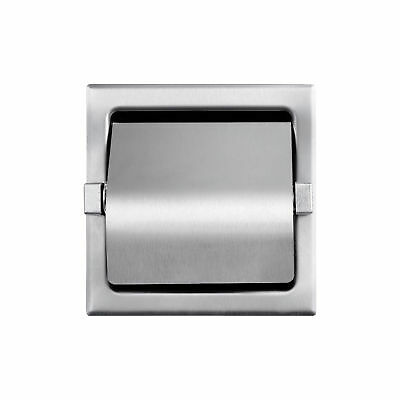 Recessed Hooded Toilet Paper Holder Stainless Steel Satin Finish