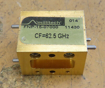 Millitech FNP-15-07000 Narrow Bandpass Filter CF=62.5GHz