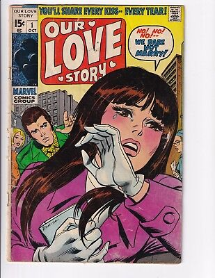 Our Love Story #1 (Oct 1969 Marvel)