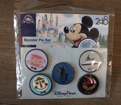 Disney Park Trading Pin Booster Set 2018 space mountain teacups small world