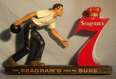 1950's Seagram's Whiskey Bowling Back Bar Figure / Statue